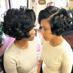 C cut weavon hair style - find hairstyle ideas for each and every kind of h Pretty Hairstyles, Bob Hairstyles, Hairstyle Ideas, Wedding Hairstyles, Curly Hair Styles, Natural Hair Styles, Sassy Hair, American Hairstyles, Relaxed Hair