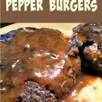 Home Made Pan Fried Pepper Burgers