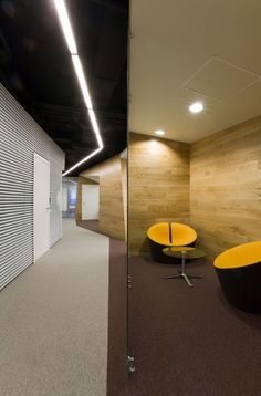 Yandex-Yekaterinburg offices yellow lounge chairs