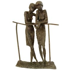 Bronze Sculpture of Two Ladies in the Manner of Alberto Giacometti 1