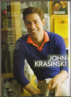 That moment you realize John Krasinski is probably the most gorgeous man alive.