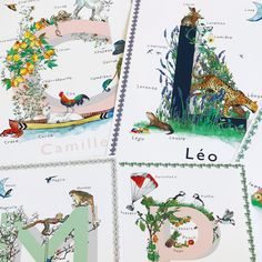 Now available in French, this beautiful wall art is sure to add a sense of style and fun to any child's space. Featuring original watercolour artwork, the Fine Art Giclée print comes in four shades and is printed with pigment inks on a luxurious acid-free textured etching paper. #Frenchart #Frenchnames #Frenchgirlsname #Frenchboysname #Frenchchild #Frenchfamily #babygift #France #babypresent #personalisedart #shippingtoFrance #UKarttoFrance Nursery Letters, Nursery Prints, Nursery Art, Alphabet Art, Letter Art, Watercolor Artwork, Watercolour, French Nursery, Pretty Names