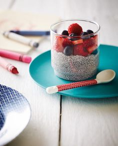 Chia Seed Puddings with Fresh Berries