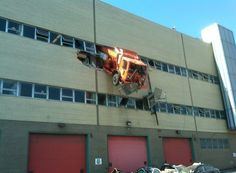 Truck on the 2nd floor