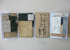 Cathy Cullis worked, selected for this board as it provides an idea for displaying a sketchbook of ideas for a single project