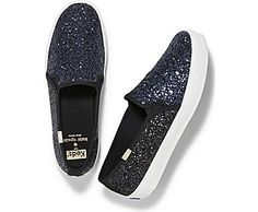 Introducing the easiest way to get party-ready: the Double Decker Glitter. These shiny slip ons will bring a fun, festive note to your look, making them an effortless go-to for every holiday festivity. Glitter coated upper Slip-on Soft breathable lining Cushioned Ortholite® insole Flexible, textured rubber outsole Care instructions: spot wash, air dry only Note: We dipped these kicks in glitter for an extra dash of glamour. They'll lose some shine with wear, but will always add a sparkle...