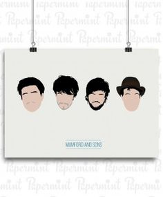 POSTER MUMFORD AND SONS PAPERMINT