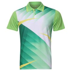 Mens Badminton Table Tennis Competitions Training Suit Sports Tops at Banggood Sports Jersey Design, Sport Shirt Design, Sport T Shirt, Sport Wear, Karate, Badminton Shirt, Printed Polo Shirts, Golf Attire, Sports Uniforms