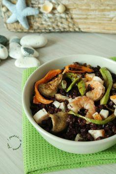 Insalata di riso venere con verdure e gamberi   I pasticci di mamma Alex