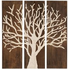 Pier One Branches Of Life Wall Panel Carved Wood Art Tree