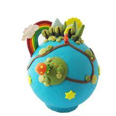 * au pays des rêves *    petit monde entièrement réalisé en pâte polymère  plus d'info sur mon site www.celinemosaik.com