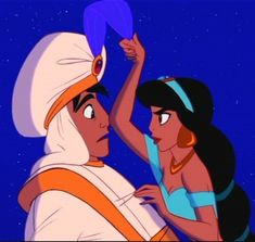 Aladdin tells a lie, the feather on his hat falls forward. Whenever Aladdin tells a lie, the feather on his hat falls forward. Disney Films, Disney E Dreamworks, Walt Disney, Disney Love, Disney Magic, Disney Pixar, Disney Characters, Disney Couples, Disney Princesses