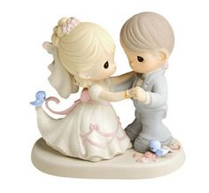 Bride Groom Dancing Birds Precious Moments Wedding Figurine Dream Come True NIB