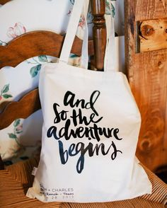 OBSESSED with these welcome bags! This is the perfect saying for any couple on their wedding day #theknot : @featherandtwine I Planning: #barrowdesigns I Bags: @bangbangchicago via @angela4design