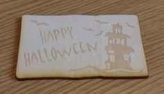 Wooden Card for Halloween, Gift Idea, Lasercut, Beech Wood #want #Woodworking #Cards # AtelierRaniera #Sheffield #Giftidea #Entertainment #Halloween #Woodencard #Lasercut #Wood