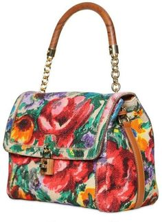 Women's Purses : Dolce & Gabbana Printed Linen Dolce Bag Top Handle in Multicolor (multi) - Fashion Inspire Best Handbags, Fashion Handbags, Purses And Handbags, Fashion Bags, Beautiful Handbags, Beautiful Bags, Coach Purses, Coach Bags, Dior