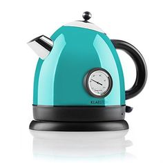 Aquavita Kettle Stainless Steel Blue - TheKlarstein Aqua Vita is an affable kettle, which competes with a lot of charm tothe preparation of hot water for tea, similar infusions and hot dish Cord Storage, Aqua, Amazon, Black, Cable Storage, Water, Amazons, Riding Habit, Cable Reel