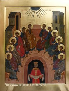 Holy Pentecost [Descent of the Holy Spirit] /Храмовая икона