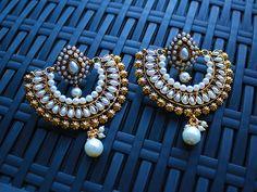 Pearl Ramleela earrings :http://www.sokorajewels.com/product/emerald-green-ramleela-earrings/