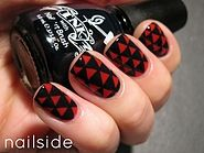 Nail art. #triangles