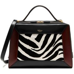 Mulberry Hopton (€1.330) ❤ liked on Polyvore featuring bags, handbags, shoulder bags, purses, zebra print purses, mulberry purse, zebra purse, mulberry handbags and man bag