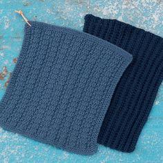 Knitted and crocheted dishcloths Dishcloth Knitting Patterns, Knit Dishcloth, Knitting Stitches, Free Knitting, Free Crochet, Crochet Pattern, Knit Crochet, Chrochet, Old Wedding Dresses