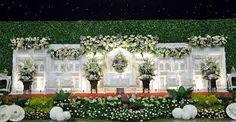 Image result for dekorasi pernikahan jawa putih