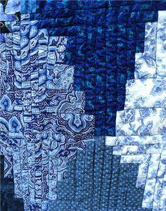 Log Cabin Quilt Blues by milkweedchicago on Etsy,