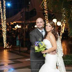 Johanna and Richard pictured at their Wedding Reception at Pavilion Grille. Photo by Alex and David