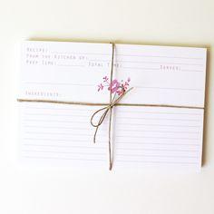 Recipe Cards from Mai Autumn ... so pretty!