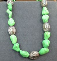 Jewelry, Died Turquoise Necklace, by Little Bear, $85,  Southwest Jewelry @ weemsgallery.com