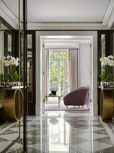 entrance hall | marble floor | South Kensington Duplex, by Studio Vero