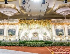 Nadia and Kalvin's wedding reception | Venue at The Ritz-Carlton Pacific Place | Decoration by White Pearl Decoration | Lighting by Lightworks