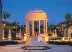 Night wedding at Dreams Palm Beach