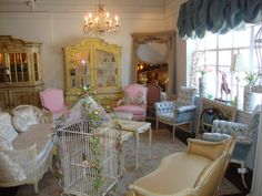 """Home Away From Home """"Montiques Studio"""" Home And Away, Vintage Decor, Valance Curtains, Shabby, Victorian, Living Room, Studio, Home Decor, Sitting Rooms"""