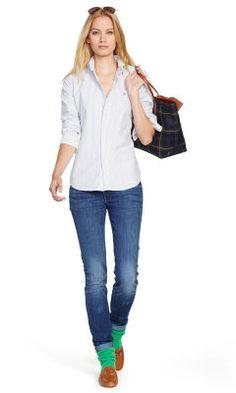 Custom-Fit Striped Shirt - Polo Ralph Lauren Shirts \u0026amp; Blouses - Ralph Lauren UK