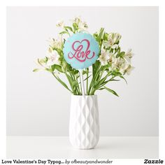 Love Valentine's Day Typography | Balloon Helium Gas, Custom Balloons, Love Valentines, Personalized Products, Create Your Own, Centerpieces, Bouquet, Typography, Elegant