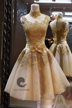 Gold Victorian Lolita Roaring 20s Gatsby Formal Prom Bridesmaid Wedding Dress 6