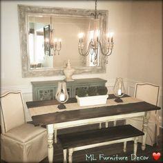 Farm Table & Dining room decor by ML Furniture Decor ❤️