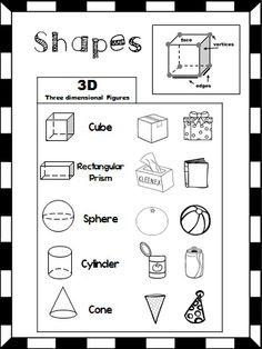 Collection of Kindergarten identifying shapes worksheets