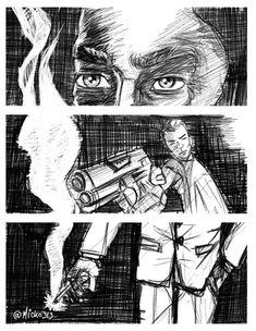 Noir page on Behance Online Portfolio, Art Drawings, Digital Art, Behance, Comics, Illustration, Fictional Characters, Black People, Illustrations