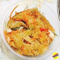 Atsara Recipe is a pickle made from grated unripe papaya. Papaya, a well-known tropical fruit in the Philippines and readily available most of the year, Papaya Recipes, Filipino Recipes, Asian Recipes, New Recipes, Cooking Recipes, Healthy Recipes, Healthy Food
