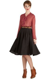 Breathtaking Tiger Lilies Skirt in Black, #ModCloth