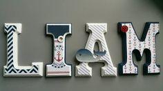 Letras de pared en madera náutica tema marinero por MissiCreation