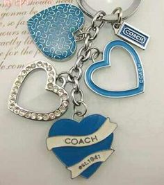 Coach Heart Keychain or Bag Charms - $22.00
