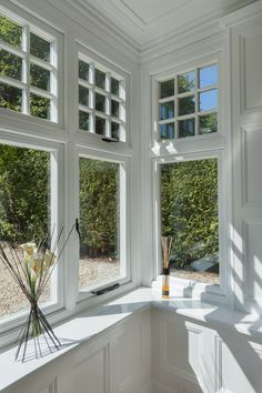 Sunroom with flush casement sash windows adding a touch of splendour to your home