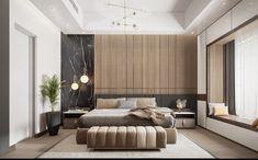Master Bedroom - Master Bedroom on Behance - Modern Luxury Bedroom, Master Bedroom Interior, Luxury Bedroom Design, Modern Master Bedroom, Bedroom Bed Design, Modern Bedroom Decor, Home Room Design, Minimalist Bedroom, Luxurious Bedrooms