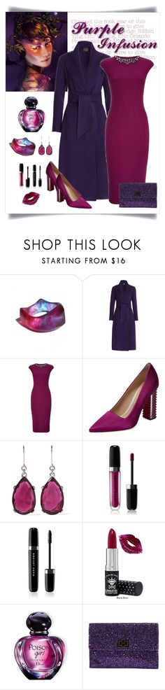 """Ted Baker Dardee Embellished Dress Look"" by romaboots-1 ❤ liked on Polyvore featuring Shanka, Donna Karan, Ted Baker, Aperlaï, Kenneth Jay Lane, Marc Jacobs, Manic Panic NYC, Christian Dior and Anya Hindmarch"
