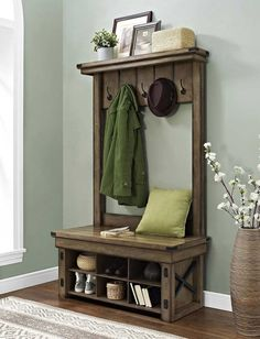 Entryway coat rack design