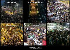 PROTESTAS Y REPRESIÓN EN VARIAS CIUDADES BRASILEÑAS